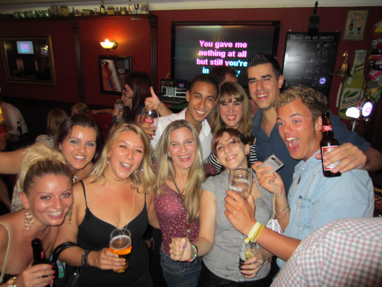 Karaoke party with Maltalingua students