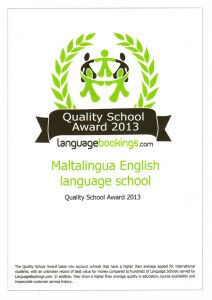 Quality School Award for Maltalingua