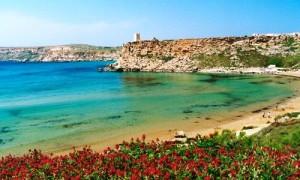 Maltese beach