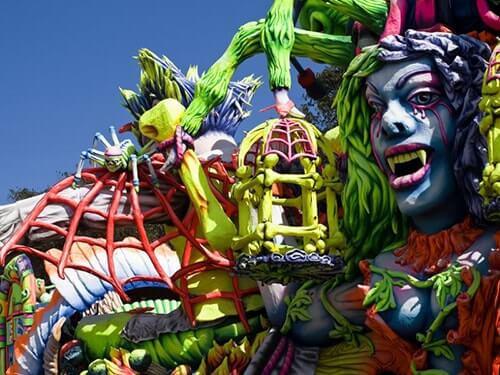A scary carnival float on Gozo.