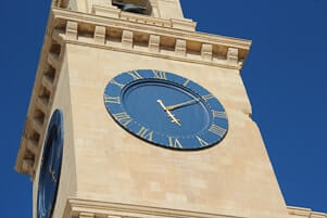 Clock tower in Malta.