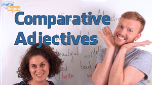 Comparative adjectives English video lesson thumbnail