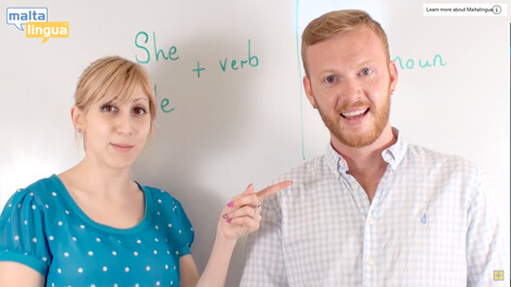 Subject pronouns English video lesson