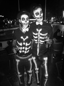 Spooky Halloween skeleton costumes