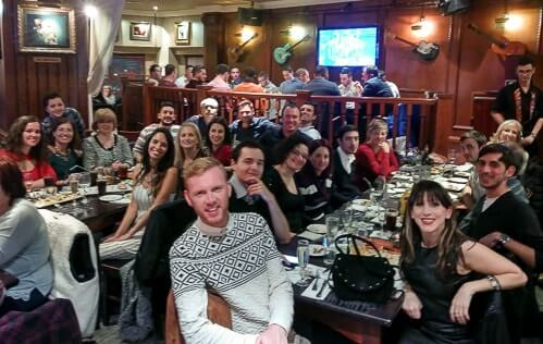 Staff Christmas meal.