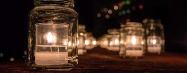 Candles at Birgu Fest Malta