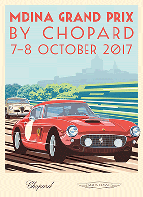 Poster for the Mdina Grand Prix at the Malta Classic 2017