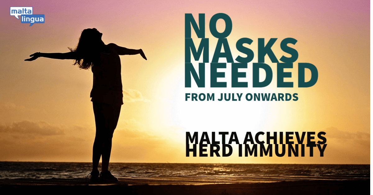 No masks needed from July