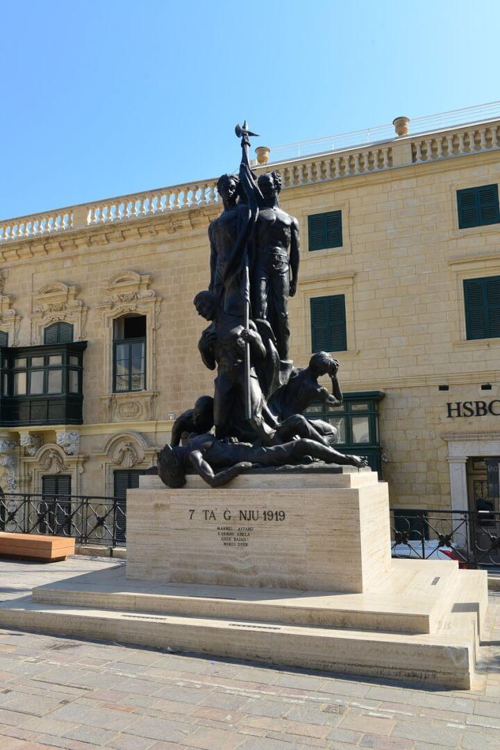 The Monument in Valletta