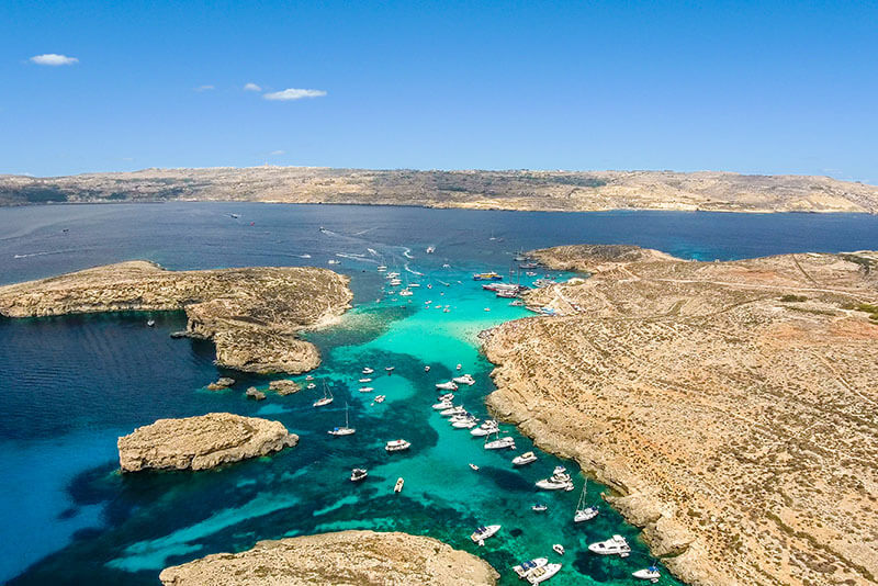 Comino from above
